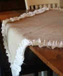 Burlap Ruffle Tablecloth Tutorial